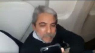Un pasajero increpó a Aníbal Fernández en un vuelo a Londres