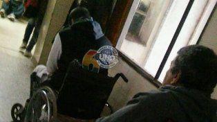 Muchos llegaron al hospital de referencia con muletas o en sillas de ruedas