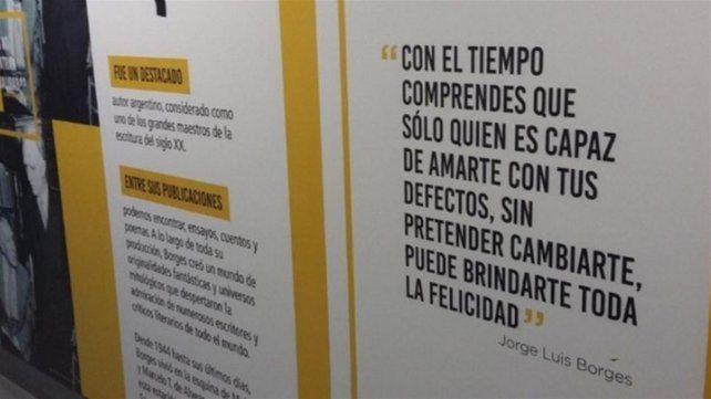 En Buenos Aires quisieron homenajear a Borges y cometieron un grave error