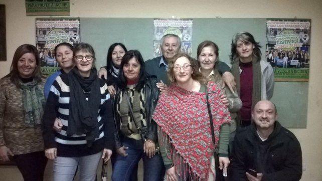Alegría. Florentín festejó en un búnker ubicado en La Paz.