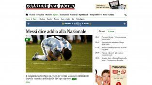 La renuncia de Lionel Messi impacta en los medios del mundo