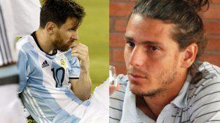 Gastón Gaudio, deprimido por la derrota de la selección argentina de fútbol