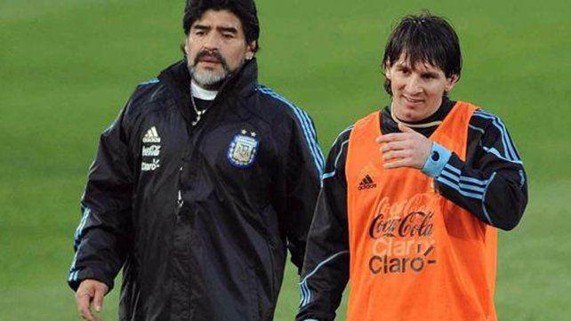 Maradona defendió a Messi: Lo dejaron solo y yo no lo quiero dejar solo