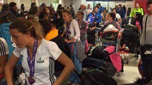 Las Leonas llegaron al país tras ganar la Champions Trophy