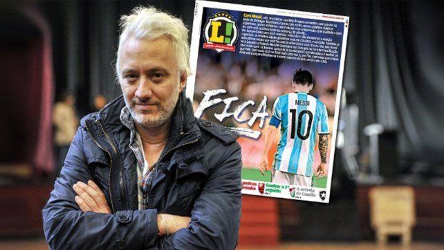 Andy Kusnetzoff se vengó del editor del diario brasilero que se burló de la renuncia de Messi