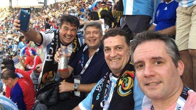 Guillermo Marijuán explicó por qué fue a ver a la Selección con dirigentes políticos