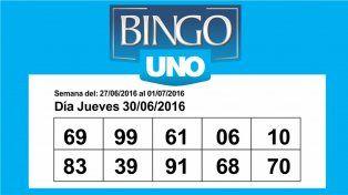 Bingo UNO: Los números de hoy