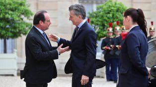 Macri habló con Hollande de integración entre Mercosur y UE y calificó la reunión como muy buena