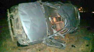 Fatalidad. El vehículo del patrón volcó en la ruta 32 el 17 de junio.