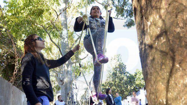 Todo por hacer. Los niños están en su plenitud para la destreza y actividad física.