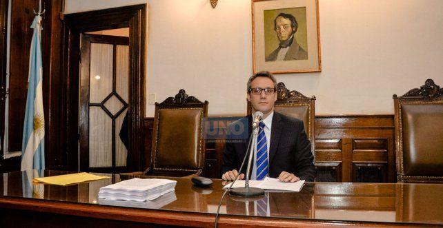 El juez federal Leandro Ríos recibió al jefe de la policía federal. Foto UNO Mateo Oviedo.