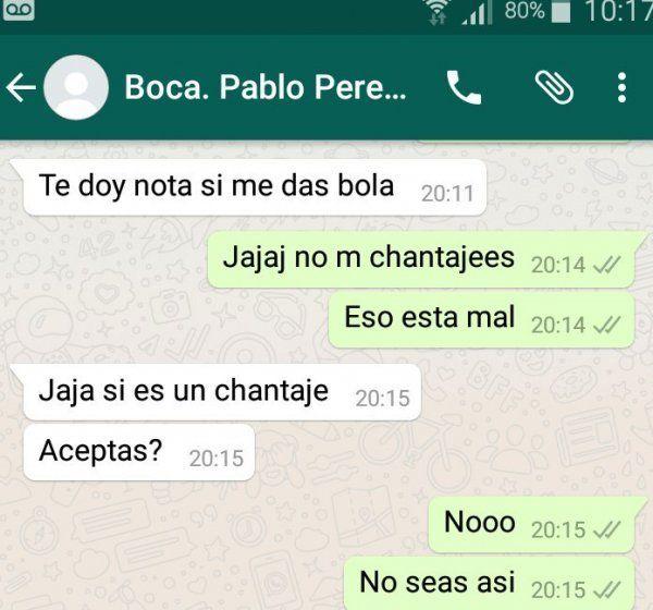 Una periodista acusó a Pablo Pérez de pedir sexo por una nota