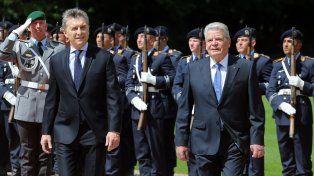Mauricio Macri yJoachim Gauck.