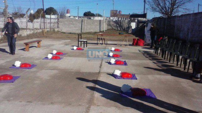 Se realizó un curso de primeros auxilios en San Miguel