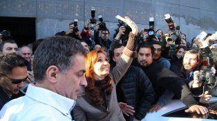 Cristina Kirchner visitó la redacción de Tiempo Argentino