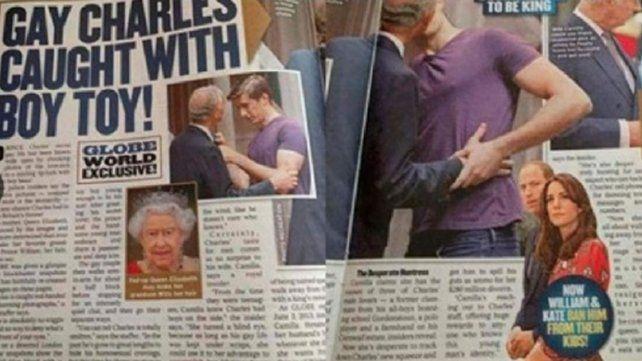 Escándalo mundial: el Príncipe Carlos a los besos con otro hombre