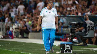 Marcelo Bielsa cuando era el técnico del Olympique Marsella.