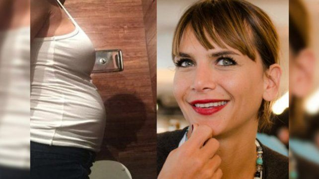 Descubren una extraña sombra en una selfie de Amalia Granata embarazada
