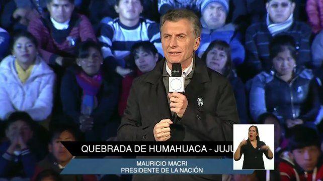 Macri agradeció a los pueblos originarios por consolidar la Independencia
