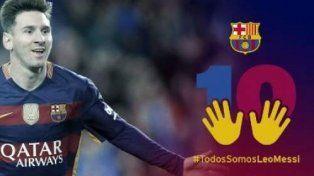 Barcelona lanzó una campaña en apoyo a Messi