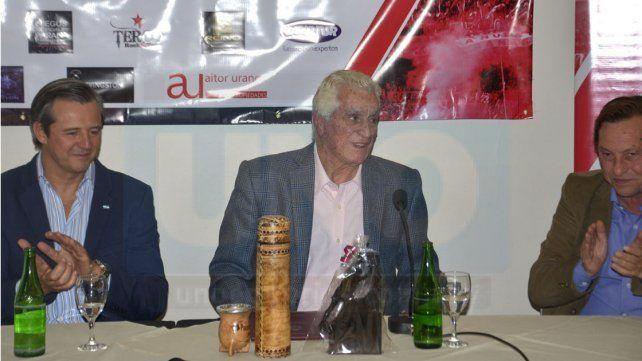 El exarquero estuvo en una rueda de prensa en el hotel Maran.
