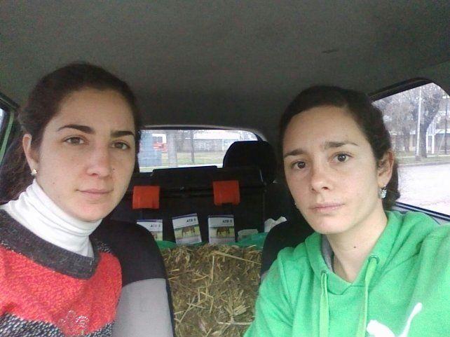 Las activistas de Mi reino por un caballo llegaron a Viale hoy temprano.