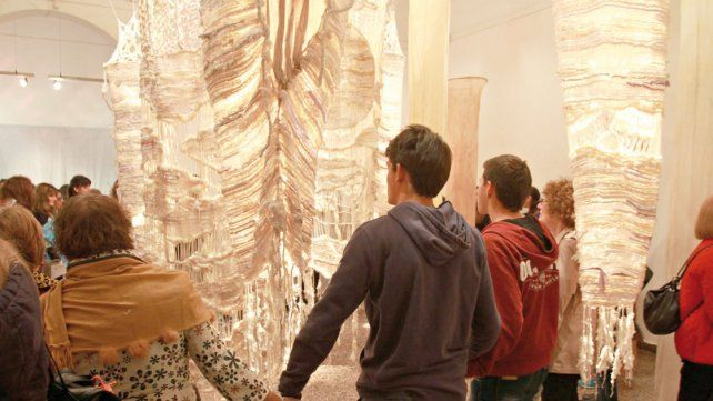 Expusieron sus obras de arte textil