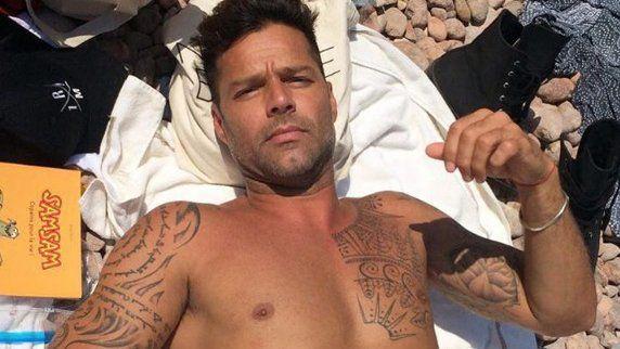 Ricky Martin vacacionó en familia con su novio