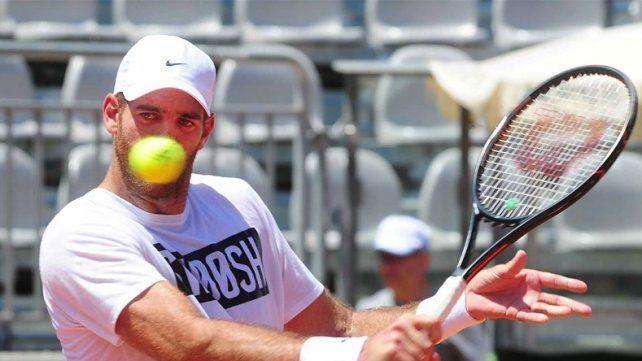 Del Potro entrenó por primera vez en Italia con el equipo de Copa Davis