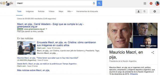 La polémica aplicación de Google que desnuda a Mauricio Macri