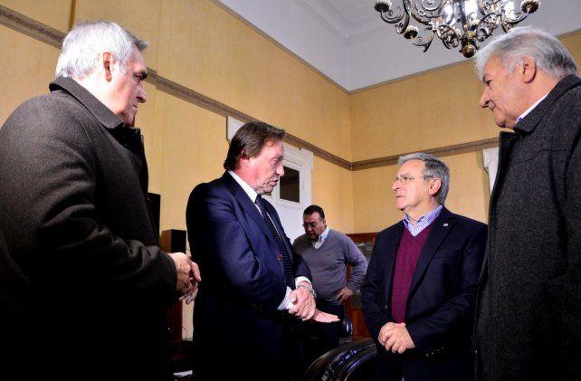 Ayer Varisco y Benedetto presentaron el llamado a licitación.