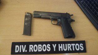 Peligroso. El arma habría sido utilizada para atacar a un menor.