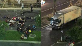 Más de 70 muertos y 100 heridos por un atentado con un camión en Francia