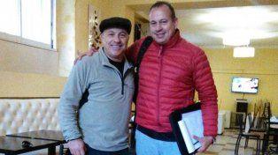 El Vasco junto a Javier en Buenos Aires antes de comenzar a trabajar.