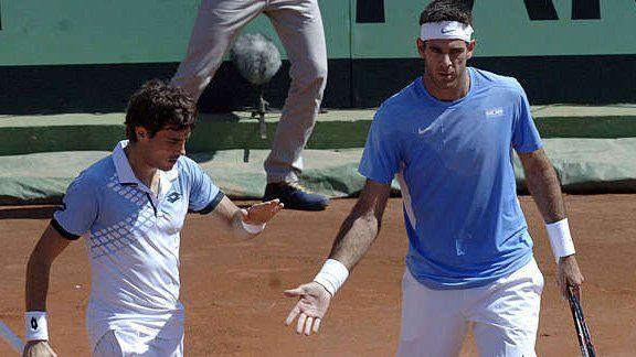 Del Potro y Pella ganaron el dobles y Argentina lidera la serie de cuartos