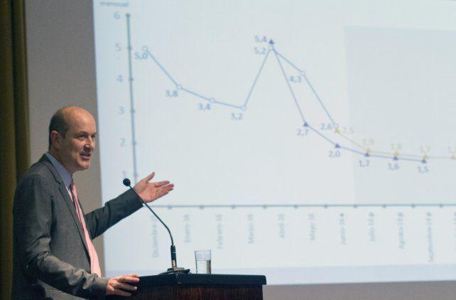 El titular del Banco Central admitió que hay recesión