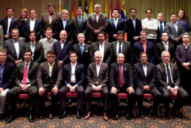 Los presidentes de los equipos de la LigaSudamericana.