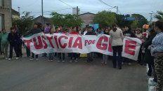 la familia de gisela lopez quiere cortar la ruta en reclamo de justicia