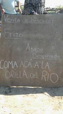 Carlos Ríos de Puerto Sánchez abrió un comedor a la orilla del Paraná