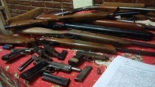 Crespo: Encontraron un taller ilegal en donde arreglaban armas de fuego