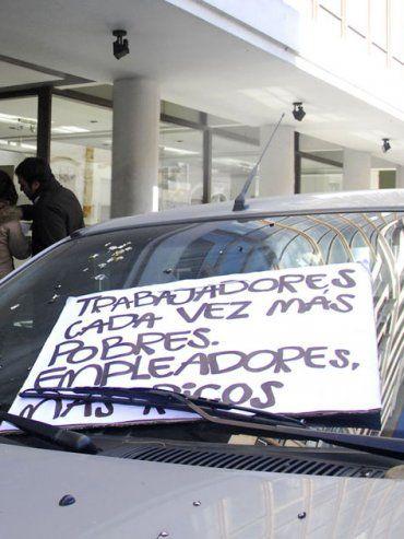 La imagen pertenece a una protesta que realizaron los trabajadores de El Diario en julio de 2012.