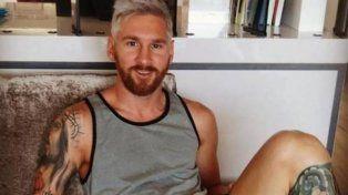 Platinado, el nuevo look de Lionel Messi