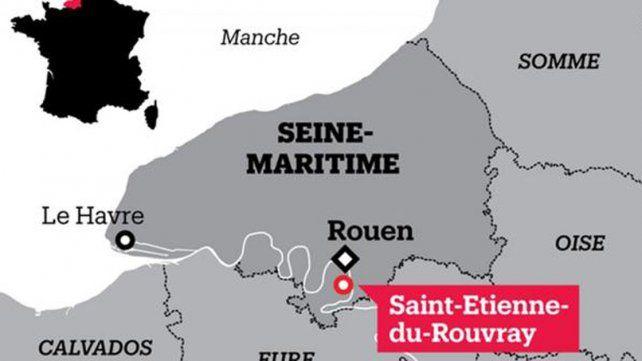 El mapa indica el lugar donde se ubica el pueblo donde se produjo el hecho