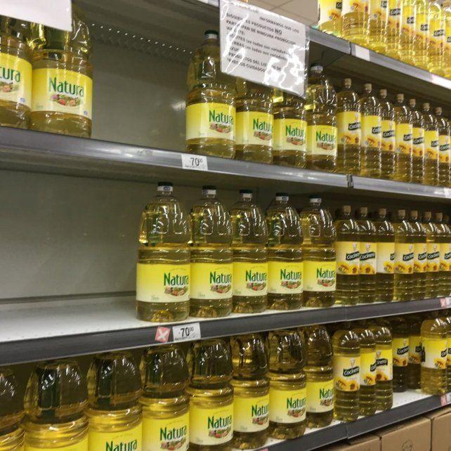 En Paraná el precio del aceite llegó a los 70 pesos.
