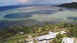 Un hombre se ganó la isla tropical en una rifa