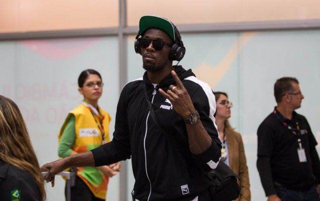 Empezó la fiesta, Usain Bolt llegó a Rio para los Juegos