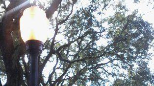 Crisis Energética: Las luces siguen prendidas en la plaza Sáenz Peña