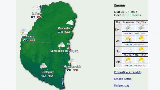 Domingo con probabilidad de lluvias y tormentas en la provincia