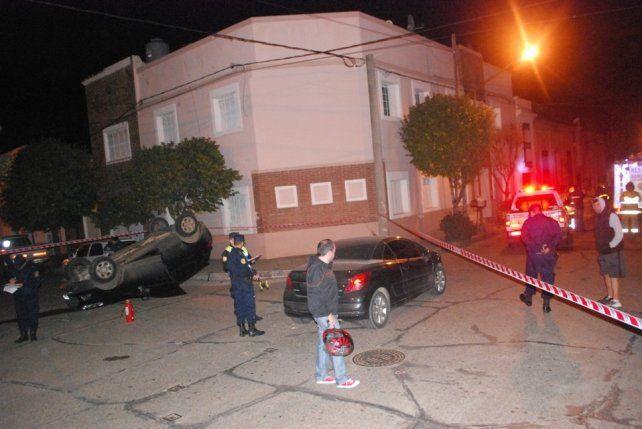 Choque, alcohol en sangre y vuelco en Concepción del Uruguay