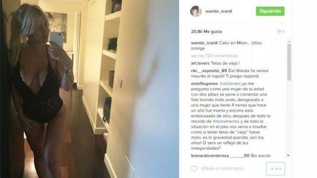 Wanda Nara mostró su embarazo de tres meses